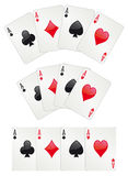 Póker de tres as Imagen de archivo