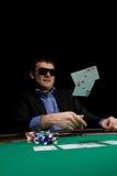 Póker del casino Imágenes de archivo libres de regalías