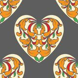 Póker del corazón como modelo de la tarjeta Foto de archivo libre de regalías