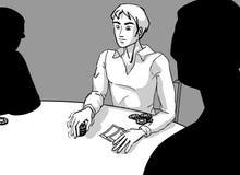 Póker del em del asimiento de Tejas stock de ilustración