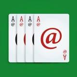 Póker del Internet Foto de archivo