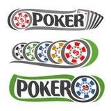 Póker del logotipo del vector Imágenes de archivo libres de regalías