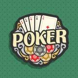 Póker del logotipo del vector Imagenes de archivo