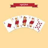 Póker del rubor real Foto de archivo libre de regalías