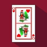Póker del ` s del Año Nuevo de la tarjeta ilustración del vector