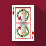 Póker del ` s del Año Nuevo de la tarjeta Ilustración libre illustration