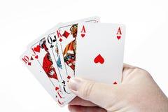 Póker - derecho Fotos de archivo