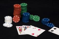 Póker dos pares imagenes de archivo