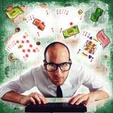 Póker en línea Fotografía de archivo
