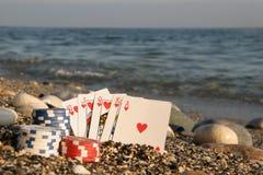 Póker por el mar Imágenes de archivo libres de regalías