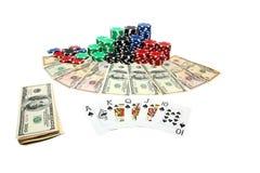 Póker que juega imágenes de archivo libres de regalías