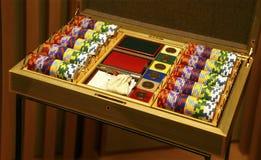 Póker que juega el conjunto Imagen de archivo