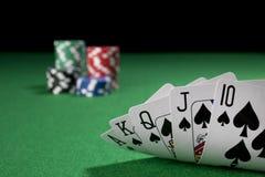 Póker, rubor real Fotografía de archivo