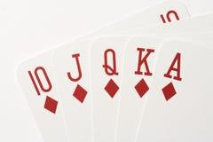 Póker - rubor real Fotos de archivo libres de regalías