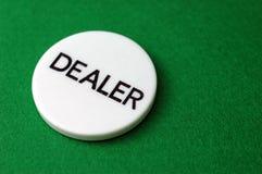 Póker: Viruta del distribuidor autorizado Foto de archivo