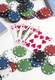 Póker y apuesta Imagen de archivo libre de regalías