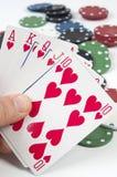 Póker y apuesta Fotografía de archivo libre de regalías