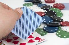 Póker y apuesta Imagenes de archivo