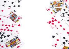 Pókeres con la trayectoria de recortes y el espacio de la copia Imagenes de archivo