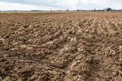 pól uprawnych Bruzdy na gruncie rolnym Obraz Royalty Free