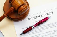 Póliza de seguro Fotografía de archivo