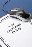 Póliza de seguro de coche Imagenes de archivo