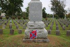 Pólnocna Karolina konfederata zabytek, Stonewall cmentarz fotografia royalty free