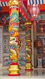 Pólo cinzelou com dragão chinês Fotografia de Stock Royalty Free