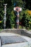 Pólo de Totem Vancôver, Canadá foto de stock
