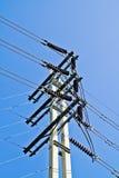 Pólo elétrico da linha eléctrica Foto de Stock