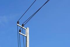 Pólo elétrico de alta tensão foto de stock