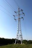 Pólos da eletricidade imagens de stock