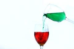 Póngase verde en rojo Imagen de archivo libre de regalías