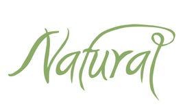 Póngase verde, una muestra manuscrita con el texto natural, conveniente para un logotipo, aislado en el fondo blanco Fotografía de archivo