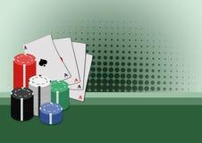 Póquer ilustração do vetor