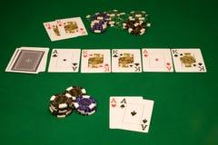 Póquer da tabela no casino Fotografia de Stock Royalty Free