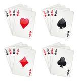 Póquer de quatro ás Fotos de Stock
