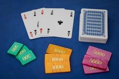 Póquer de quatro ás Imagem de Stock Royalty Free