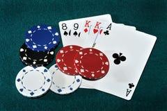 Póquer de Texas Foto de Stock