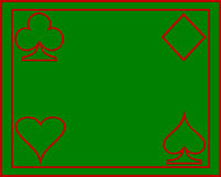 Póquer do cartão fotografia de stock
