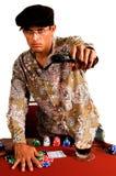 Póquer do gângster fotografia de stock