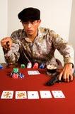Póquer do gângster foto de stock royalty free