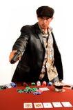 Póquer do gângster fotos de stock