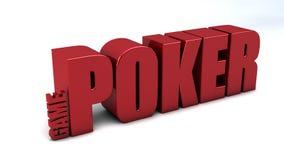 Póquer do jogo ilustração stock