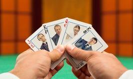 Póquer do negócio Imagens de Stock Royalty Free
