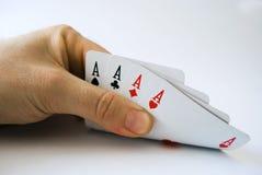 Póquer dos ás imagem de stock royalty free