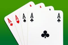 Póquer dos ás Imagens de Stock