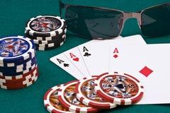 Póquer dos ás Foto de Stock Royalty Free