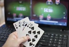 Póquer em linha Fotografia de Stock