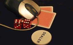 Póquer em linha Fotos de Stock Royalty Free